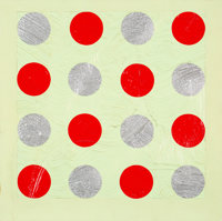 Matthew Abbott (b. 1965) Twister II, 1993 Acrylic and modeling paste on canvas 24 x 24 inches (61