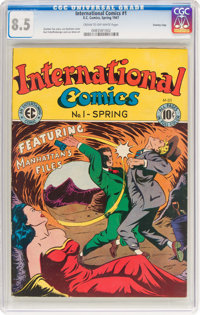 International Comics #1 Crowley Copy Pedigree (EC, 1947) CGC VF+ 8.5 Cream to off-white pages