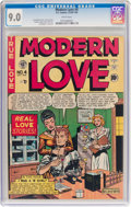 Golden Age (1938-1955):Romance, Modern Love #4 (EC, 1950) CGC VF/NM 9.0 White pages....