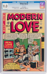 Modern Love #4 (EC, 1950) CGC VF/NM 9.0 White pages