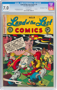 """Land of the Lost Comics #9 Davis Crippen (""""D"""" Copy) pedigree (EC, 1948) CGC FN/VF 7.0 Off-white pages"""