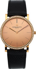 "Timepieces:Wristwatch, Vacheron Constantin, 32mm ""Classic"" Ref.33593 in 18KPG with diamondbezel. ..."