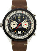 Timepieces:Wristwatch, Breitling Ref. 1806 Steel Navitimer Chrono-Matic. ...