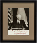 Autographs:Photos, President Dwight D. Eisenhower Signed, Framed Photograph,PSA/DNA....