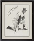 "Autographs:Others, Ted Williams ""The Splendid Splinter"" Signed Print...."