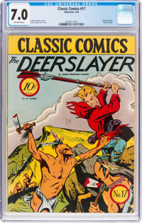 Classic Comics #17 The Deerslayer - First Edition (Gilberton, 1944) CGC FN/VF 7.0 Off-white pages