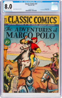 Classic Comics #27 The Adventures of Marco Polo - First Edition (Gilberton, 1946) CGC VF 8.0 Cream to off-white pages...