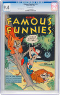 Golden Age (1938-1955):Miscellaneous, Famous Funnies #116 (Eastern Color, 1944) CGC NM 9.4 Off-white pages....