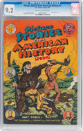Golden Age (1938-1955):Non-Fiction, Picture Stories From American History #3 (EC, 1947) CGC NM- 9.2Cream to off-white pages....