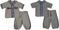 Baseball Collectibles:Uniforms, 1930's Babe Ruth King of Swat Children's Uniforms Lot of 2. ...