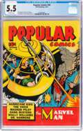 Golden Age (1938-1955):Miscellaneous, Popular Comics #58 (Dell, 1940) CGC FN- 5.5 Off-white pages....