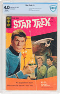 Silver Age (1956-1969):Science Fiction, Star Trek #1 (Gold Key, 1967) CBCS VG 4.0 White pages....