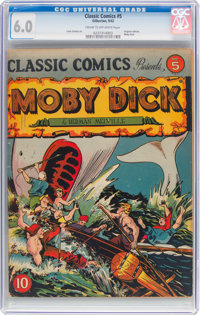 Classic Comics #5 Moby Dick (Gilberton, 1942) CGC FN 6.0 Cream to off-white pages