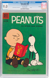 Four Color #969 Peanuts - File Copy (Dell, 1959) CGC VF/NM 9.0 Off-white pages