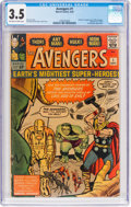 Silver Age (1956-1969):Superhero, The Avengers #1 (Marvel, 1963) CGC VG- 3.5 Off-white to whitepages....