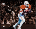 Autographs:Photos, Earl Campbell Signed Oversized Photograph....