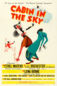 "Cabin in the Sky (MGM, 1943). One Sheet (27"" X 41"") Style C, Al Hirschfeld Artwork"
