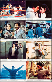 "Rocky (United Artists, 1977). Mini Lobby Card Set of 8 (8"" X 10""). Academy Award Winners. ... (Total: 8 Items)"