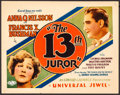 "The 13th Juror (Universal, 1927). Title Lobby Card (11"" X 14""). Mystery"