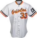 Baseball Collectibles:Uniforms, 1988 Eddie Murray Game Worn & Signed Baltimore Orioles Jersey....