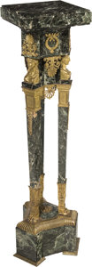 Decorative Arts, French:Other , An Empire-Style Gilt Bronze-Mounted Marble Pedestal, France, late19th century. 46-1/4 x 14-1/2 x 13 inches (117.5 x 36.8 x ...