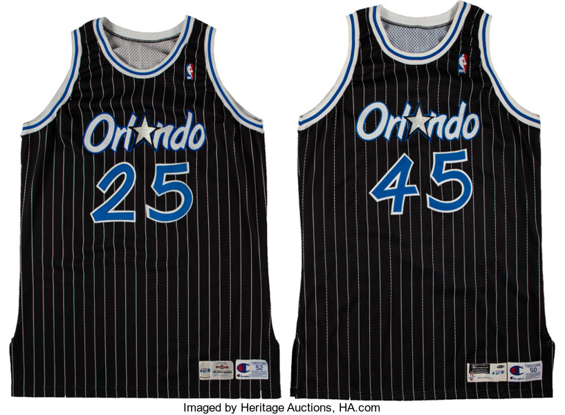 111b1ccb2c5d7e 1994-95 Nick Anderson   1997-98 Bo Outlaw Game Worn