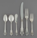 Silver Flatware, American:Wallace , A One Hundred and Thirty-Four Piece Wallace Grand BaroquePattern Silver Flatware Service, Wallingford, Connecti... (Total:134 Items)