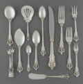 Silver Flatware, American:Wallace , A Seventy-Two Piece Wallace Grand Baroque Pattern SilverFlatware Service, Wallingford, Connecticut, designed ... (Total: 72Items)