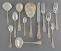 Silver Flatware, American:Steiff, A Sixty-Piece Stieff Maryland Rose Pattern Silver FlatwareService, Baltimore, Maryland, designed 1980. Marks: ... (Total: 60Items)
