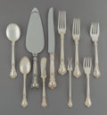 Silver & Vertu:Flatware, A Seventy-Eight Piece Gorham Chantilly Pattern Silver Flatware Service, Providence, Rhode Island, designed 1895... (Total: 78 Items)