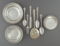 Silver Flatware, American:Other , Thirteen Pieces of Various Silver Flatware and Bowls. Marks:(various). 10 inches (25.4 cm) (longest, berry spoon). 28.53 tr...(Total: 13 Items)