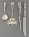Silver Flatware, American:Steiff, Fourteen Pieces of Kirk Stieff Various Silver Flatware andAssociated International Silver Carving Set, Baltimore, Maryland...(Total: 14 Items)