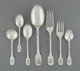 A Forty-Eight Piece Shreve Norman Hammered Pattern Silver Flatware Service, San Francisco, California, designed ... (Tot...