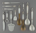 Silver & Vertu:Flatware, A Sixteen-Piece Georg Jensen Acorn Pattern Silver Flatware Group, Copenhagen, Denmark, designed 1915. Marks: G... (Total: 16 Items)