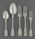 Silver Flatware, British:Flatware, Fifteen Pieces of Various English Silver Flatware, 18th century. Marks: (various English hallmarks). 8-3/4 inches (22.2 cm)... (Total: 15 Items)