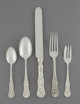 A Sixty-Piece Dominick & Haff Rococo Pattern Silver Flatware Service for Twelve, New York, patented 1888 Marks...