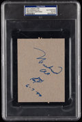 Boxing Collectibles:Autographs, 1989 Muhammad Ali Signed Cut Signature with Boxing Ring Sketch,PSA/DNA Authentic. ...