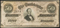 Confederate Notes, T66 $50 1864 PF-3 Cr. 497.. ...