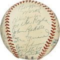 Autographs:Baseballs, 1952 St. Louis Cardinals Team Signed Baseball . The ONL (Giles)baseball has the distinct honor of holding the signatures o...