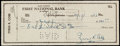 Autographs:Checks, 1953 Ty Cobb Signed Check. ...