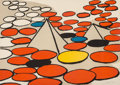 Prints & Multiples, Alexander Calder (1898-1976). Untitled, c. 1970. Lithograph in colors on wove paper. 20-1/2 x 28-3/8 inches (52.1 x 72.1...