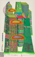 Prints & Multiples, Friedensreich Hundertwasser (1928-2000). Good Morning City, 1969-70. Screenprint in colors with metallic imprints on Fab...