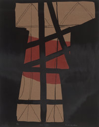 Louise Nevelson (1899-1988) Thru a-z +, n.d. Lithograph in colors on paper 26 x 20 inches (66.0 x