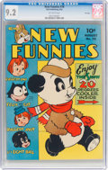 Golden Age (1938-1955):Humor, New Funnies #78 File Copy (Dell, 1943) CGC NM- 9.2 Off-white pages....