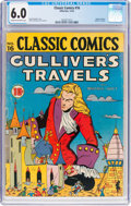 Golden Age (1938-1955):Classics Illustrated, Classic Comics #16 Gulliver's Travels - Original Edition (Gilberton, 1943) CGC FN 6.0 Cream to off-white pages....