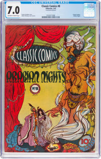 Classic Comics #8 Arabian Nights - Original Edition (Gilberton, 1943) CGC FN/VF 7.0 Off-white to white pages