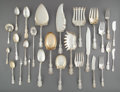 Silver Flatware, American:Whiting, An Eighty-Nine Piece Whiting Louis XV Pattern SilverFlatware Service, New York, New York, designed 1891. Marks:...(Total: 89 Items)