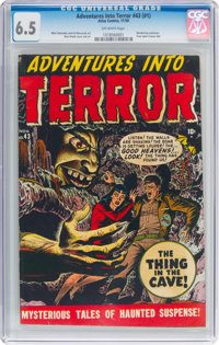 Adventures Into Terror #43 (#1) (Atlas, 1950) CGC FN+ 6.5 Off-white pages