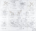 Original Comic Art:Miscellaneous, Captain Crook's Pirate Ship Architectural Plans Group of 3(McDonald's/Setmakers, 1973/78).... (Total: 3 Original Art)