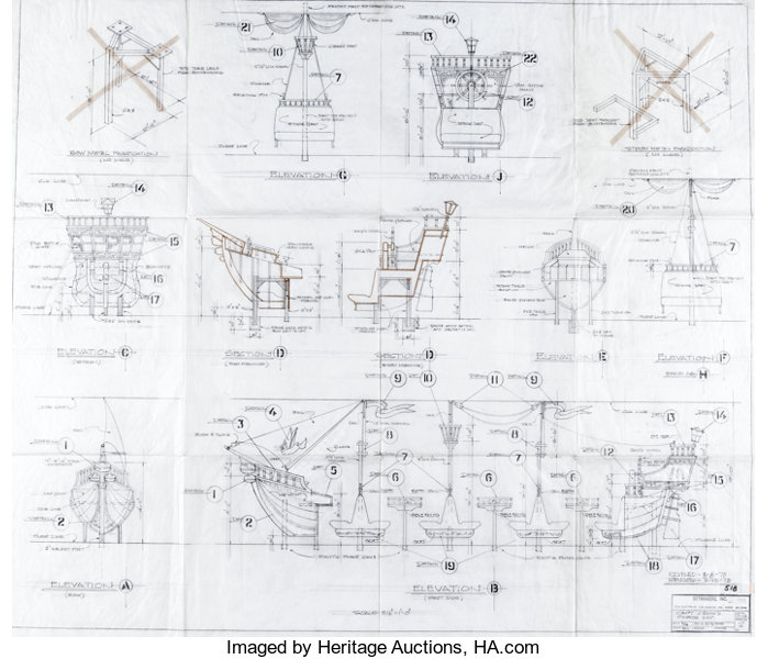 Stupendous Captain Crooks Pirate Ship Architectural Plans Group Of Lot Wiring 101 Cominwise Assnl